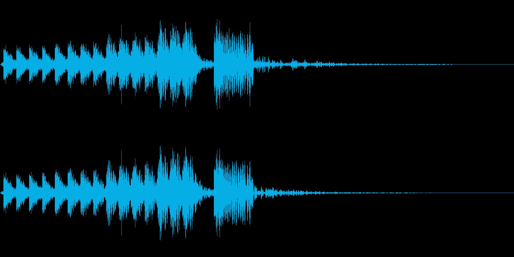 クライミングスワイプの再生済みの波形