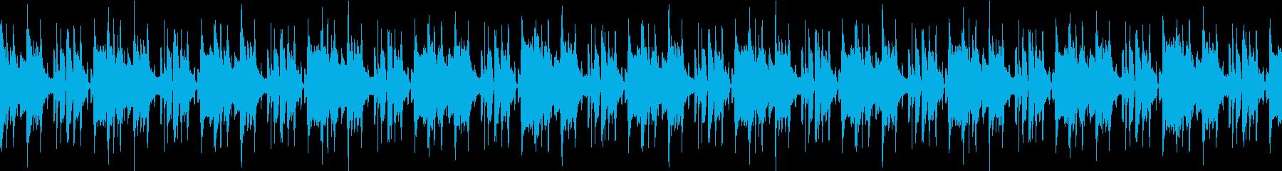 おしゃれなファンクBGM ループの再生済みの波形
