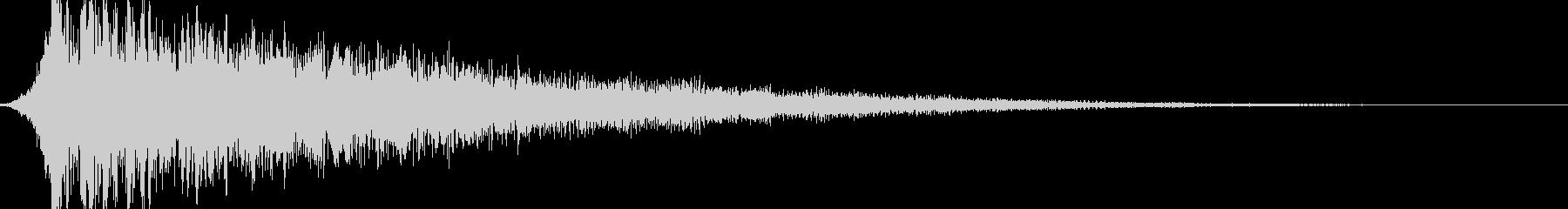映画風 ダークでカッコいいサウンドロゴの未再生の波形
