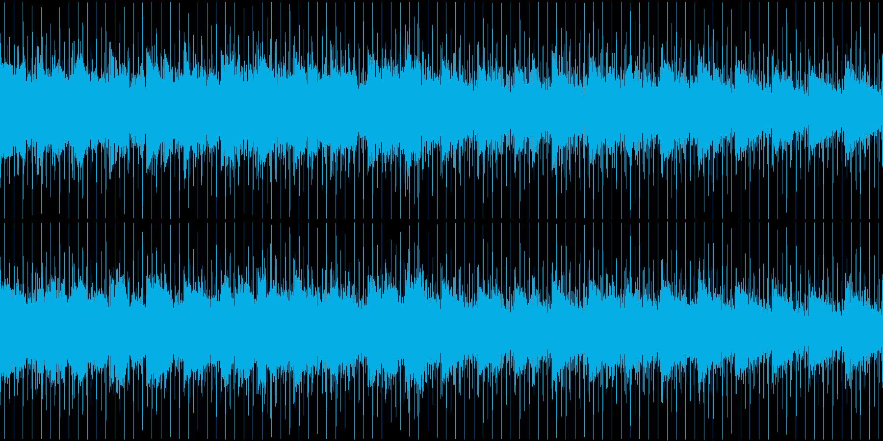 モノートーンで淡い感じのハウスループ音源の再生済みの波形
