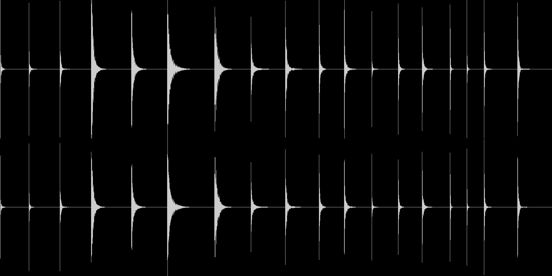 シートメタル、インパクト、ヒット、...の未再生の波形