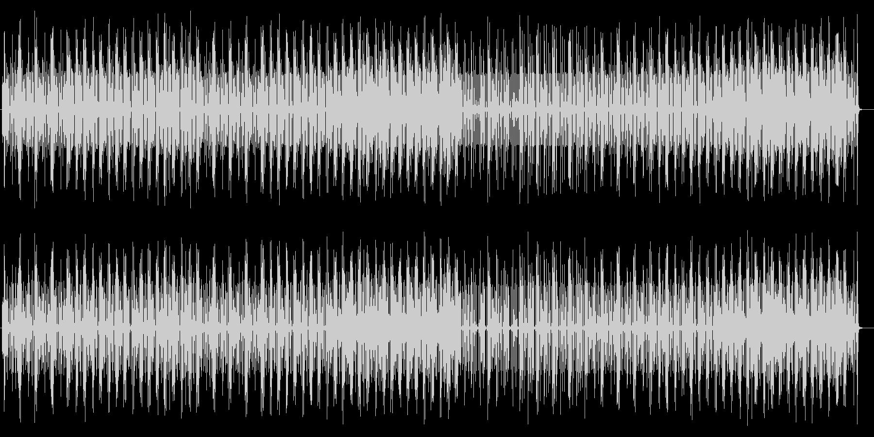 さわやかなシンセサイザーのポップスの未再生の波形