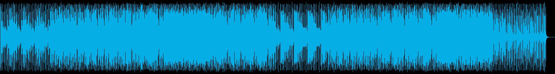 緩やかで穏やかなシンセエレキサウンドの再生済みの波形