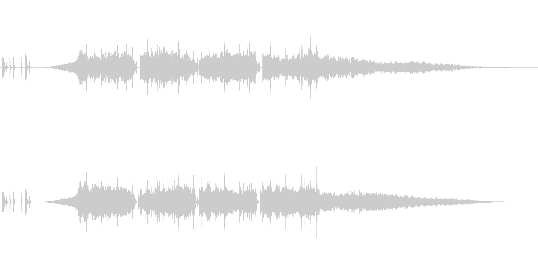電子音系、ビート強め、ジングル、ラジオの未再生の波形