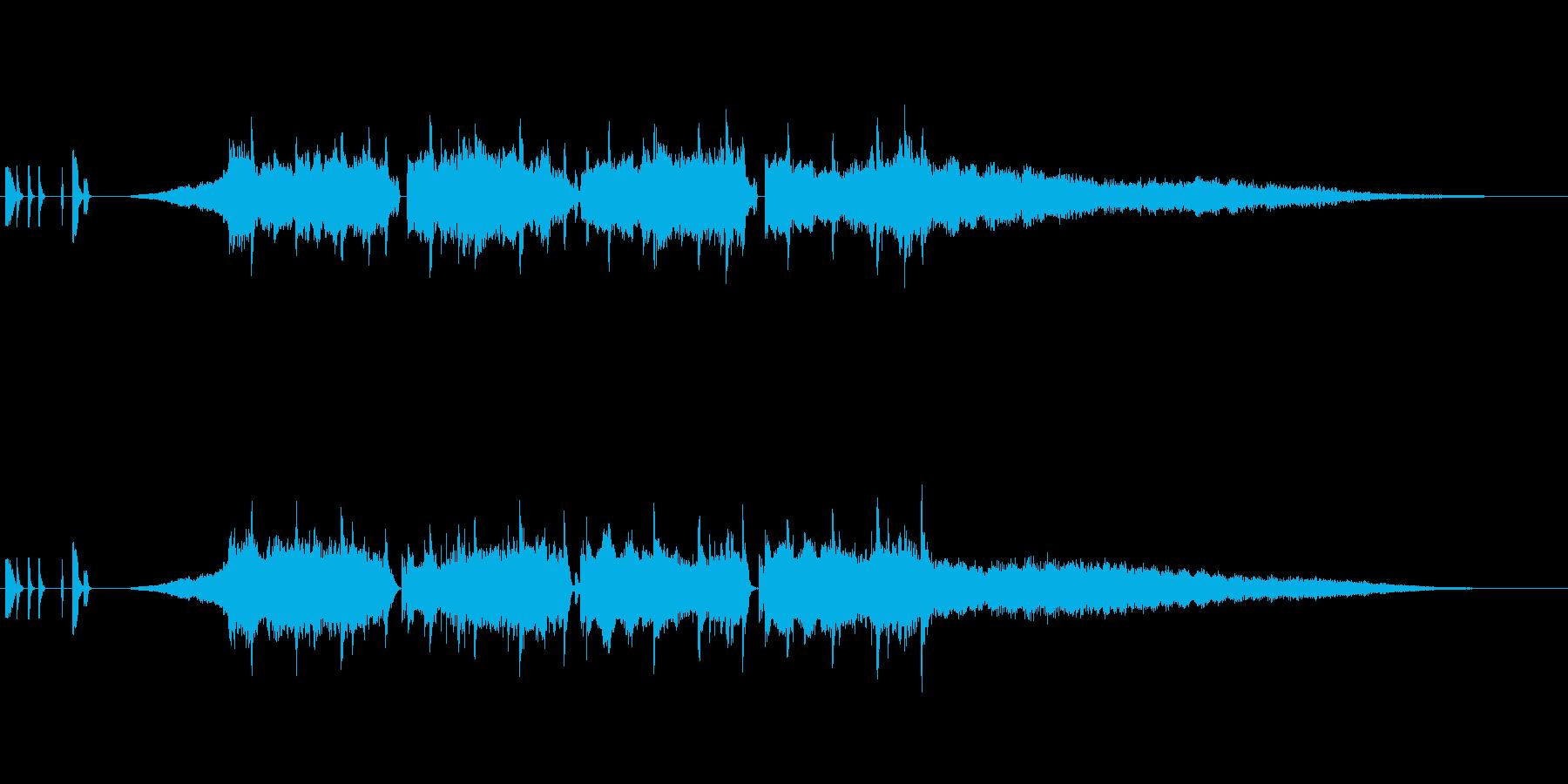 電子音系、ビート強め、ジングル、ラジオの再生済みの波形