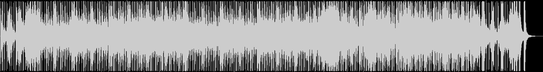 三味線と和太鼓などの和風で活気ある楽曲の未再生の波形