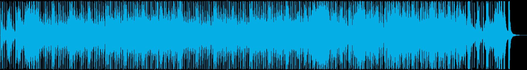 三味線と和太鼓などの和風で活気ある楽曲の再生済みの波形