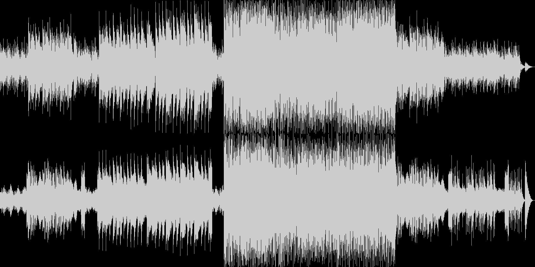 北欧の静かな森をイメージした曲の未再生の波形
