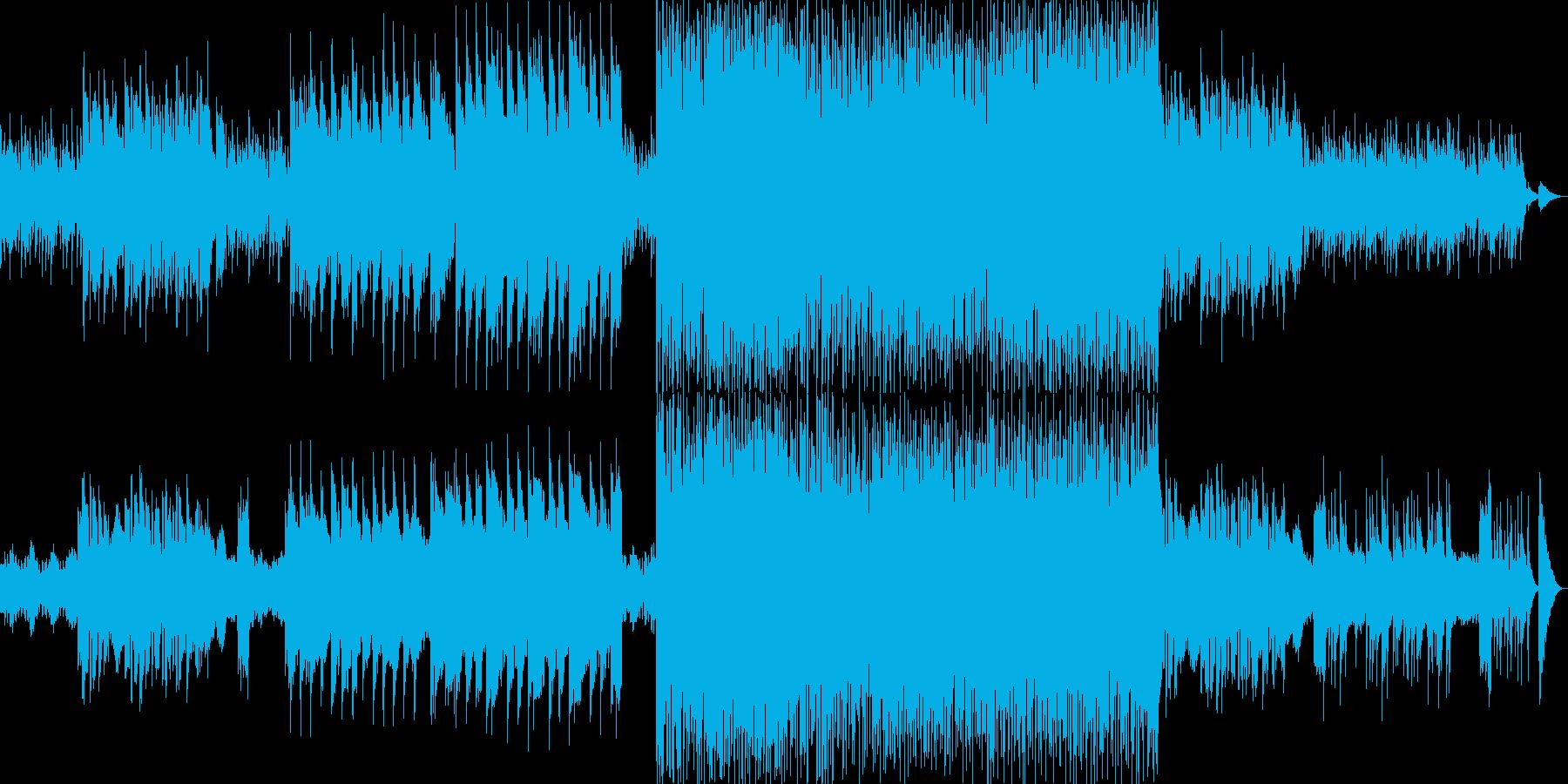 北欧の静かな森をイメージした曲の再生済みの波形
