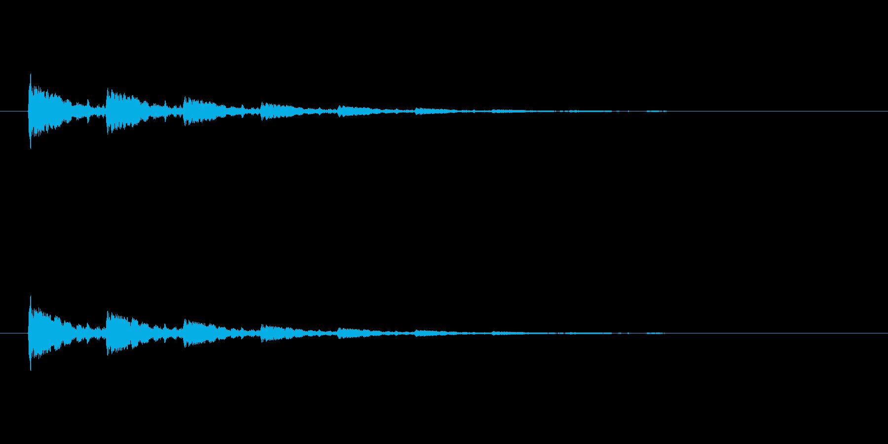 【アクセント38-2】の再生済みの波形