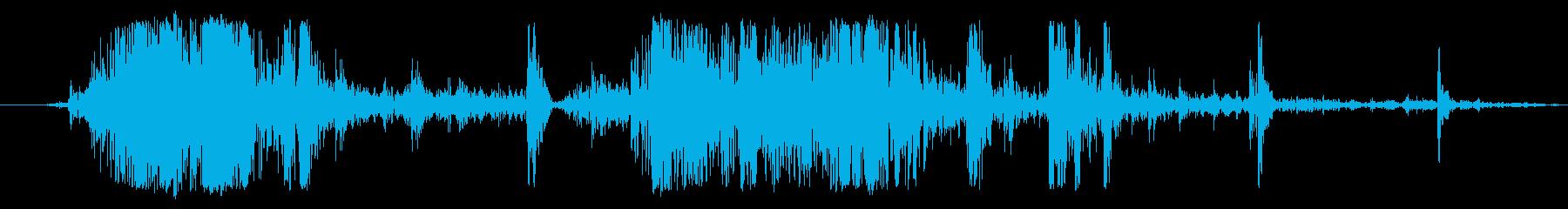 ヘビーアイスクラッシュの影響の再生済みの波形