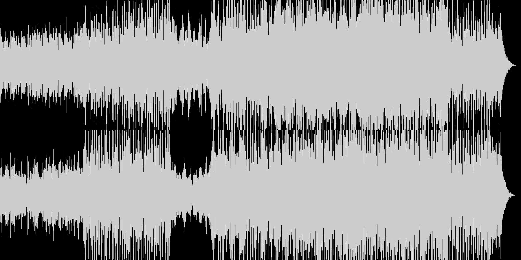 ピアノが印象的なシネマティックサウンドの未再生の波形