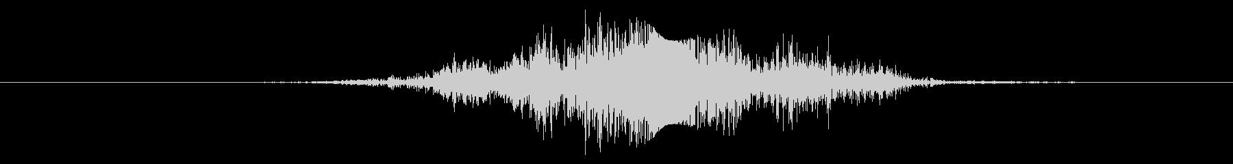 弓矢でシューッという音の未再生の波形