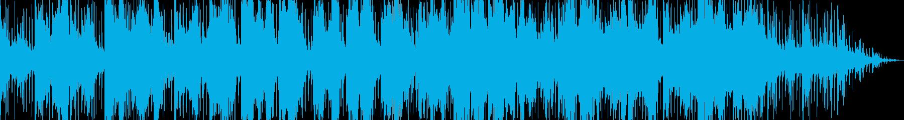 琴と尺八で奏でる和風曲の再生済みの波形