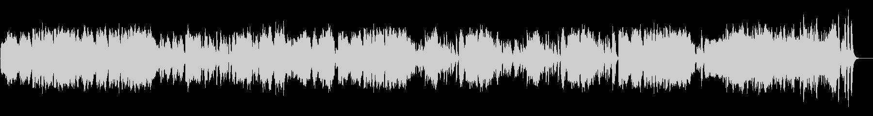 ビブラフォンと木管の明るくコミカルな曲の未再生の波形