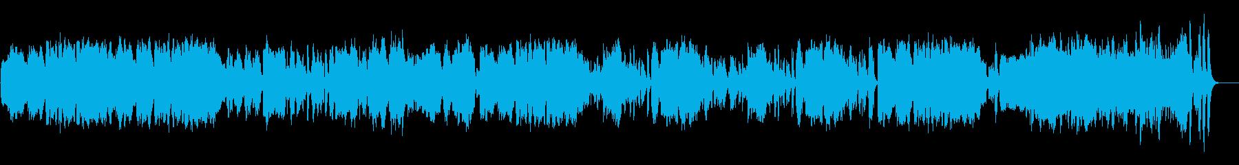 ビブラフォンと木管の明るくコミカルな曲の再生済みの波形
