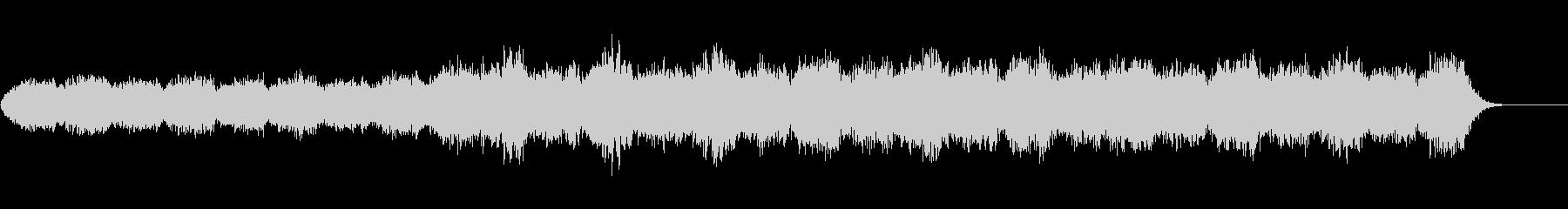 ソルフェジオ周波数使用のヒーリング音楽の未再生の波形