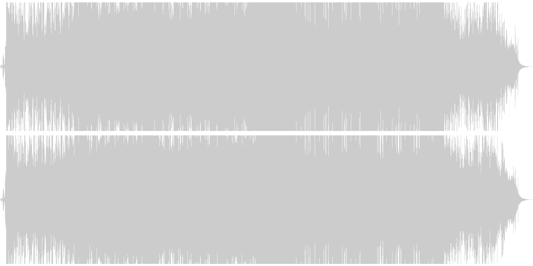 ストリングスが印象的な重いダブステップの未再生の波形