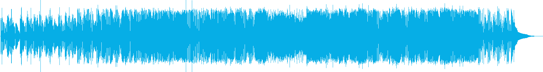 ドラムンベースロック。重いタテノリロックの再生済みの波形