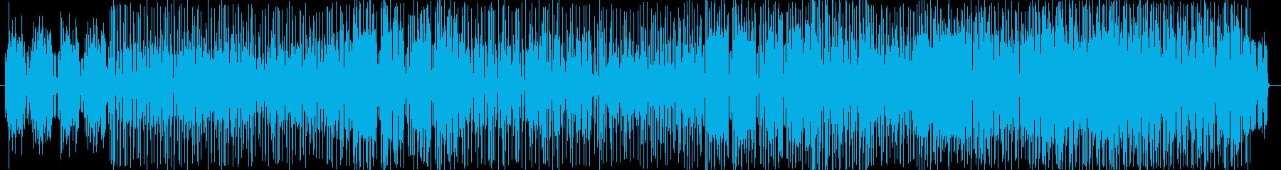 ファンキーで ノリの良いピアノダンス曲の再生済みの波形