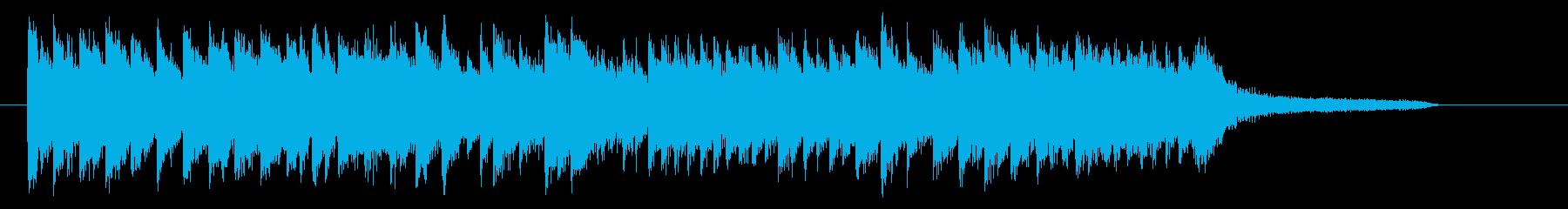 桜・卒業式 優しく切ないピアノジングルBの再生済みの波形