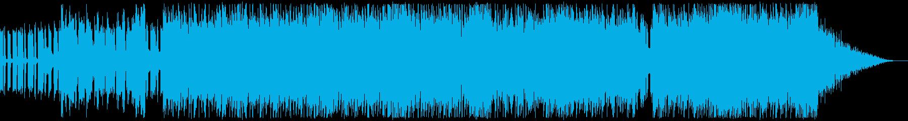 ノリの良いトランス系BGMの再生済みの波形