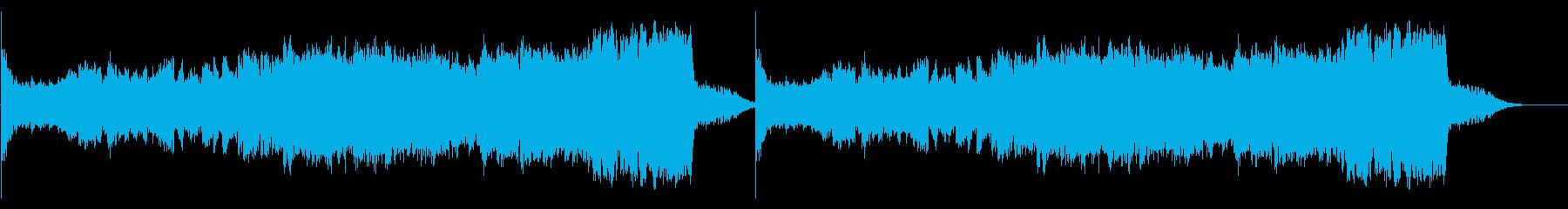 幻想的・神秘的でシリアスなオーケストラ曲の再生済みの波形