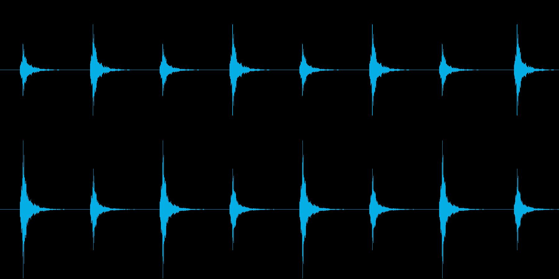 鈴が左右で鳴る(和風ホラー・ループ可能)の再生済みの波形