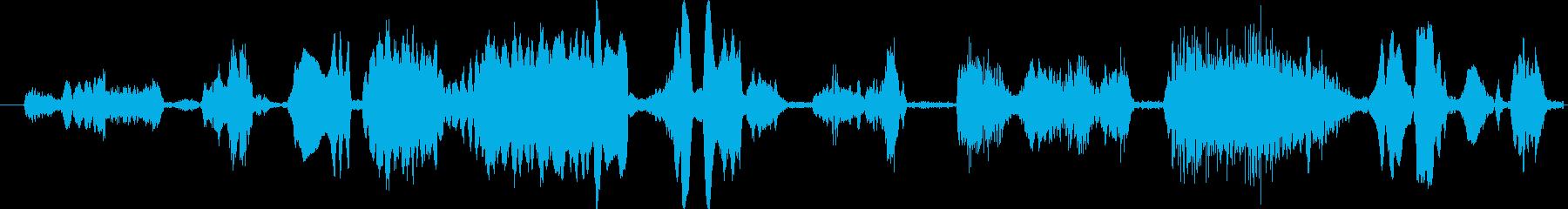 モンスター グリッチトーク04の再生済みの波形