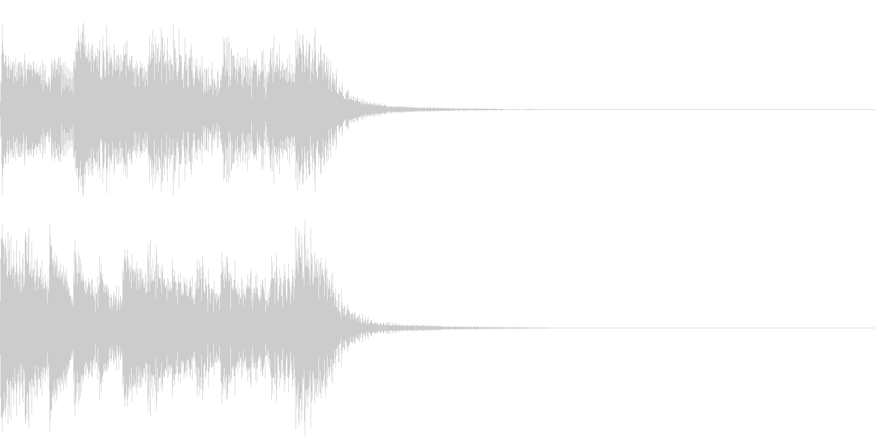 ノリノリなピアノSEジャズブルース風3秒の未再生の波形