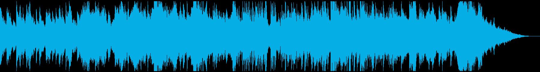 生演奏チェロとハープのロマンチックワルツの再生済みの波形