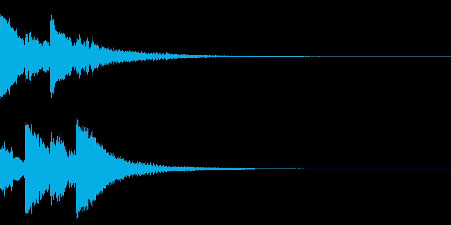 ポンポンパンポン/終わり/呼び出し/#3の再生済みの波形