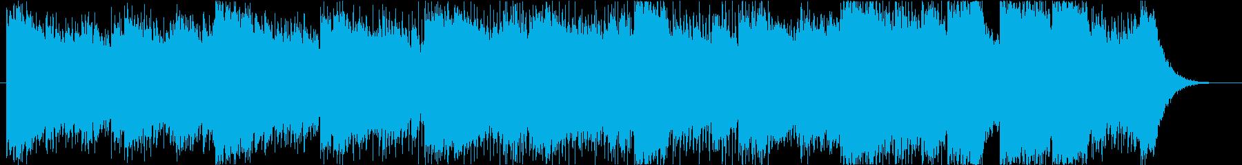 怪しくゆったり幻想的なシンセサウンドの再生済みの波形