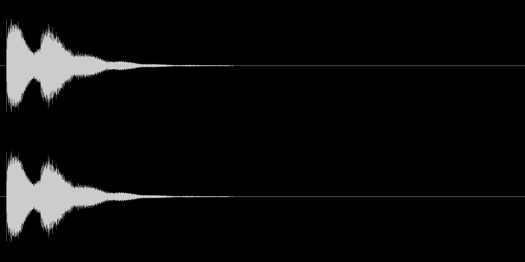 漫画のドアベルの未再生の波形