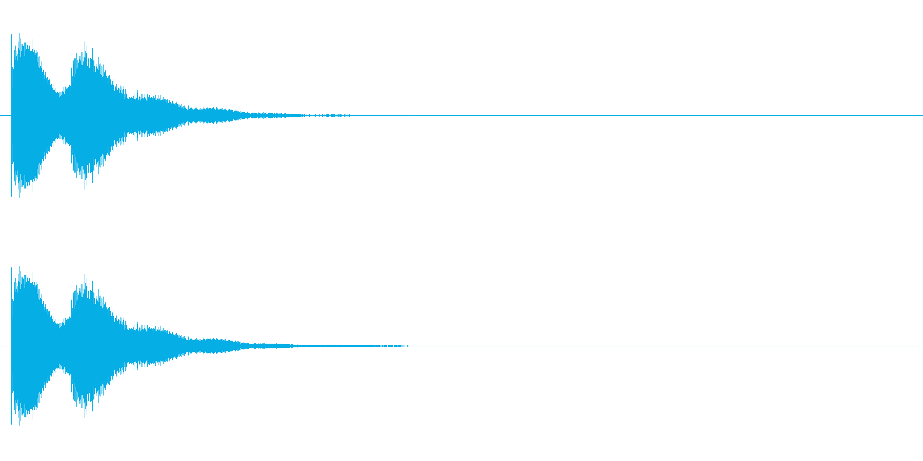 漫画のドアベルの再生済みの波形