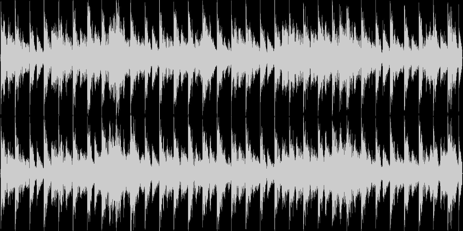 軽快なリズムのエレクトロニカの未再生の波形