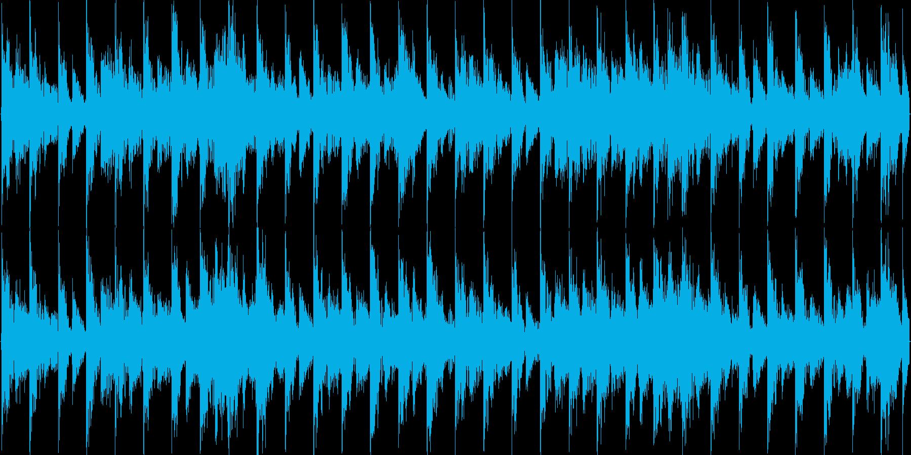 軽快なリズムのエレクトロニカの再生済みの波形