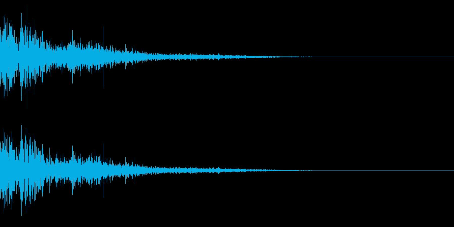 リアル系水の攻撃ヒット音、泥を含む重さの再生済みの波形