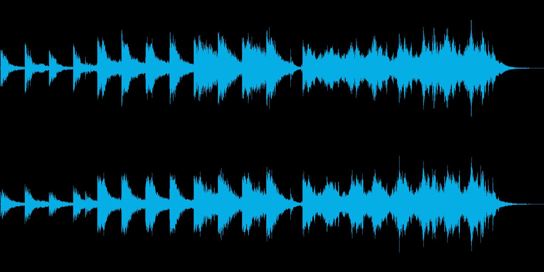 静と動を感じる神秘的なアンビエントの再生済みの波形