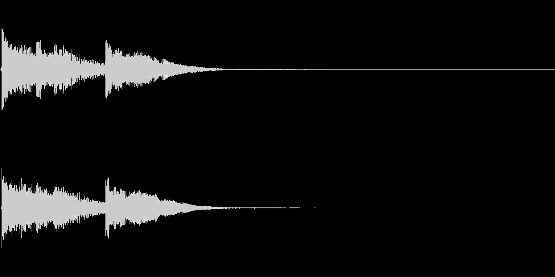 クリア 正解 ジングル サウンドロゴ 1の未再生の波形