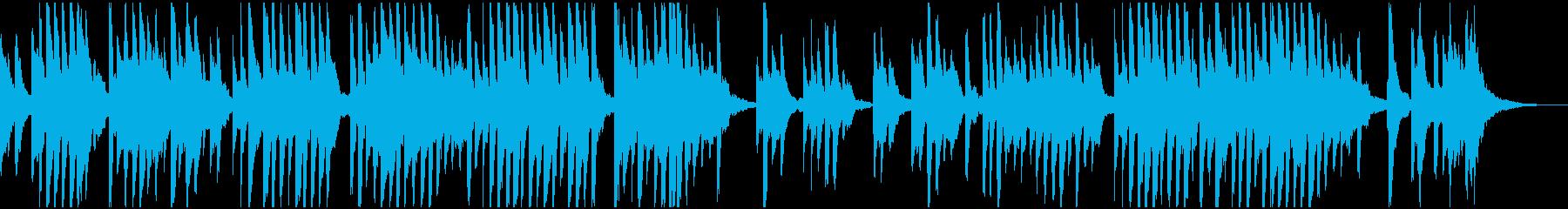 和風の悲しめな曲の再生済みの波形