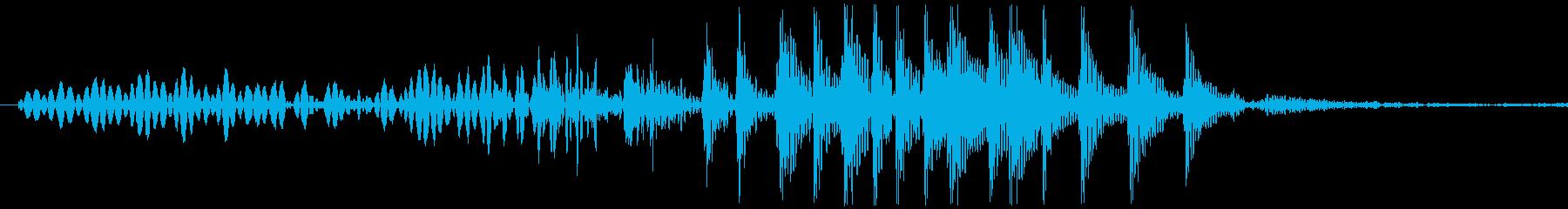 グヮ。アヒル・ガチョウの鳴き声の再生済みの波形
