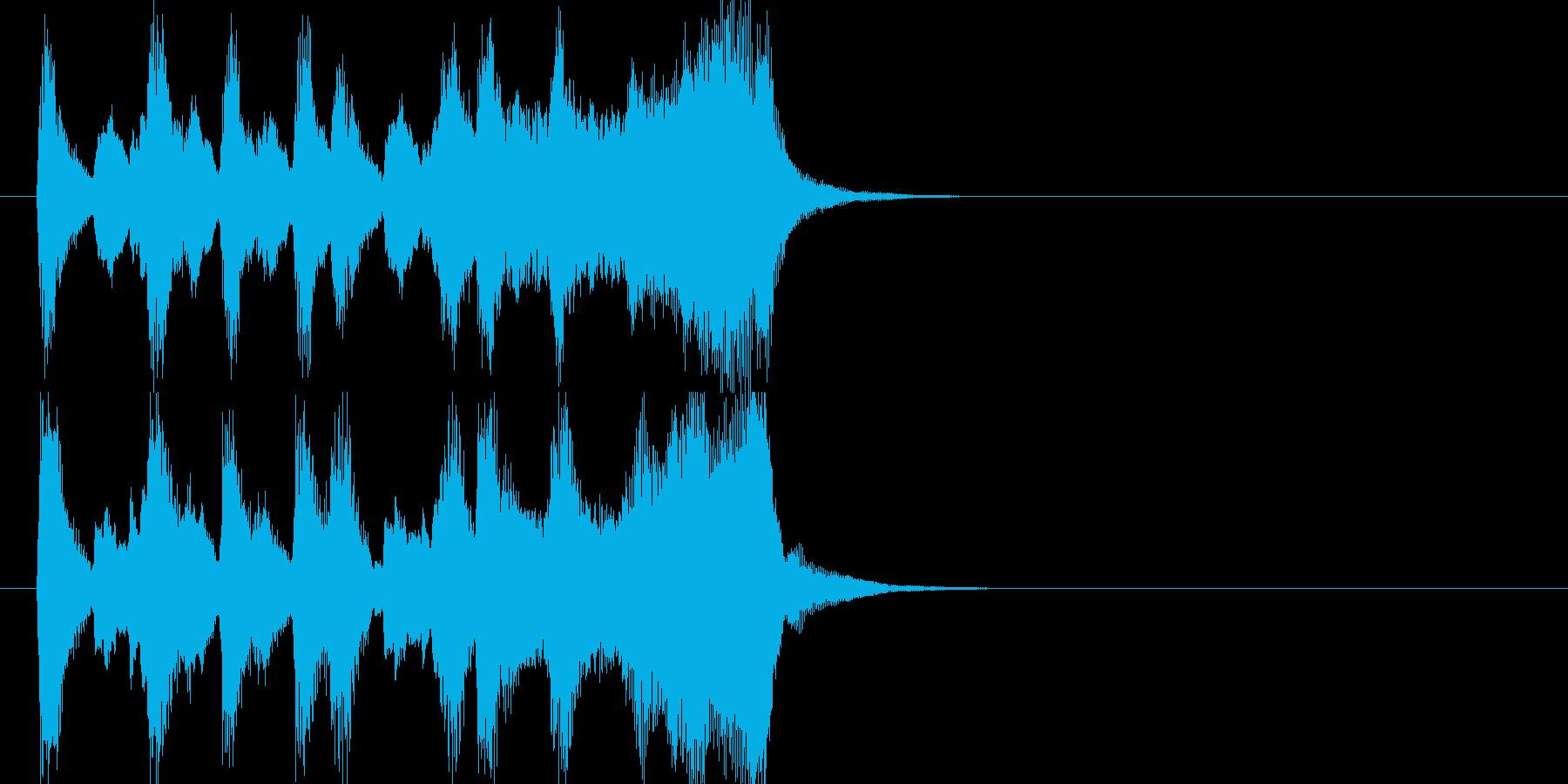 CMに合いそうな軽快なオーケストラ音源の再生済みの波形