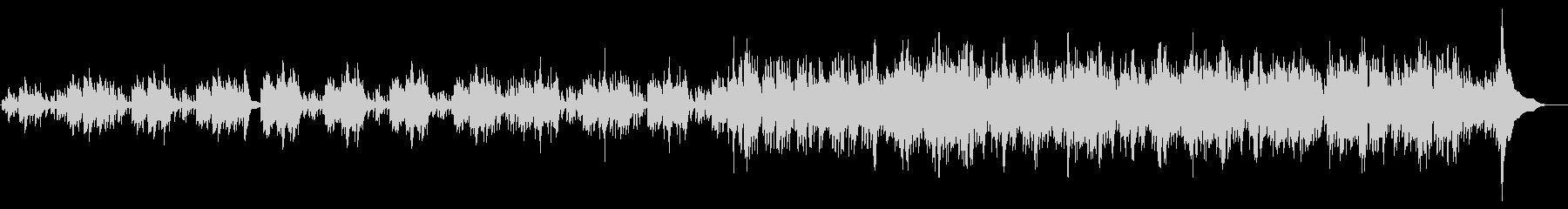 ハープの壮大な曲の未再生の波形