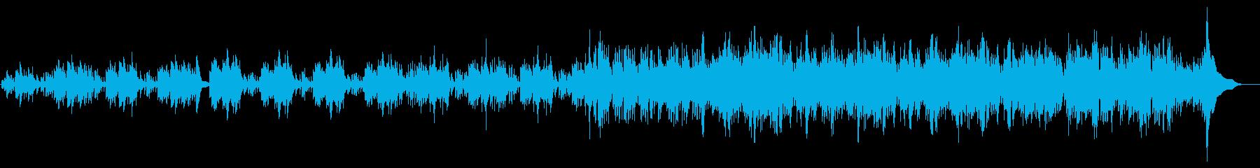 ハープの壮大な曲の再生済みの波形