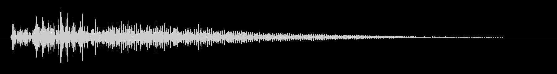 「ダダダン」という3連続の太鼓の未再生の波形