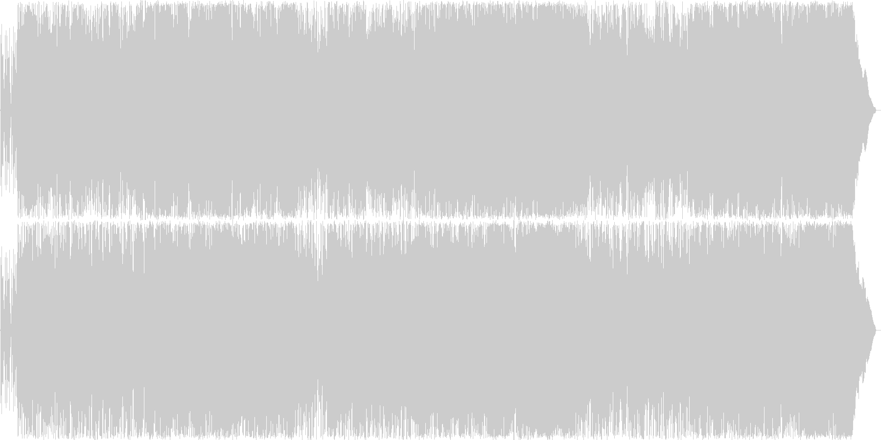 疾走感のある明るいロックの未再生の波形