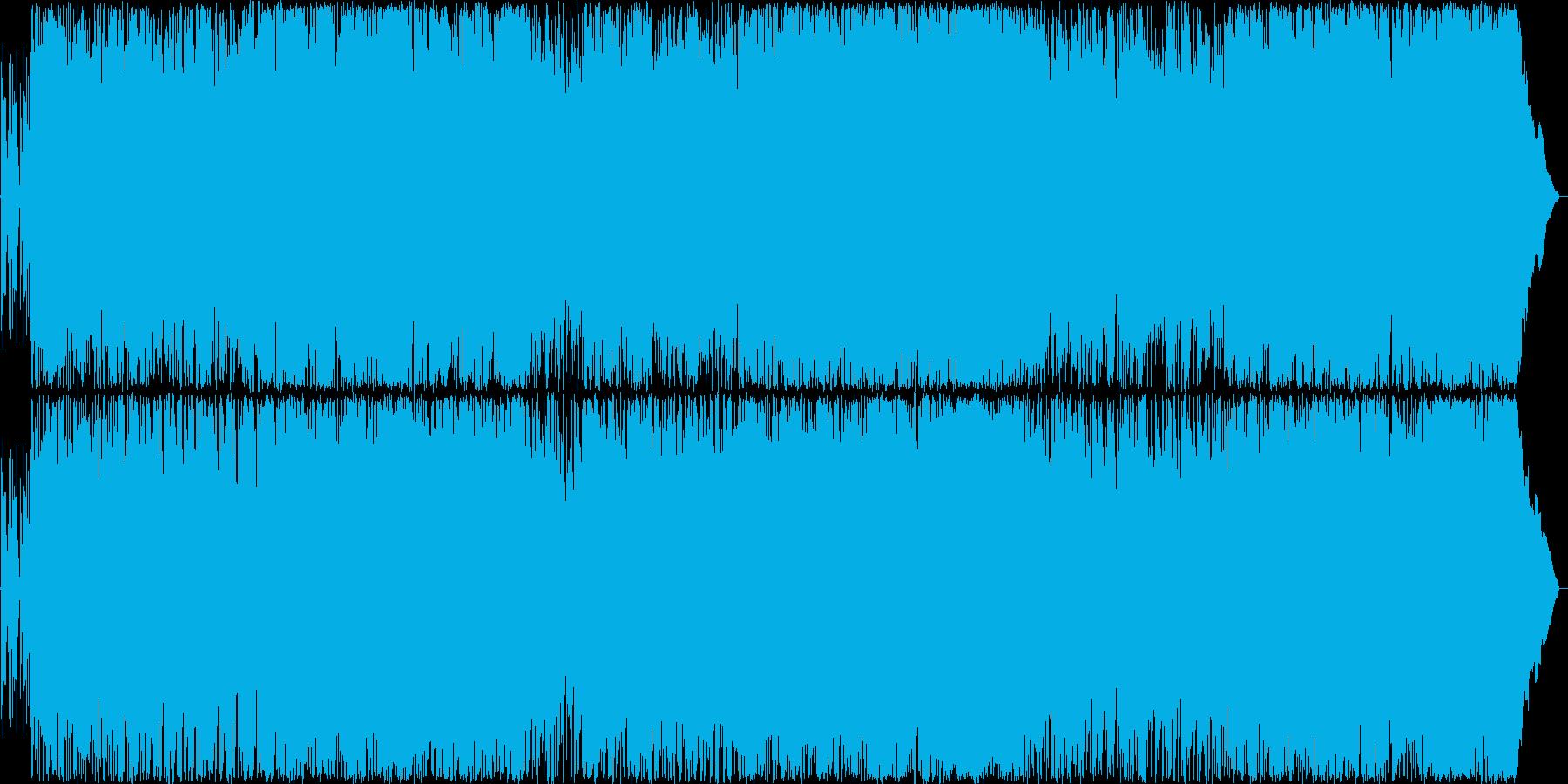疾走感のある明るいロックの再生済みの波形