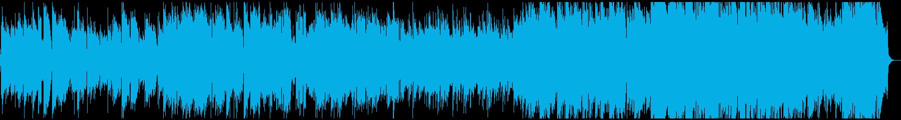 エレクトリックピアノの前向きなジャズの再生済みの波形