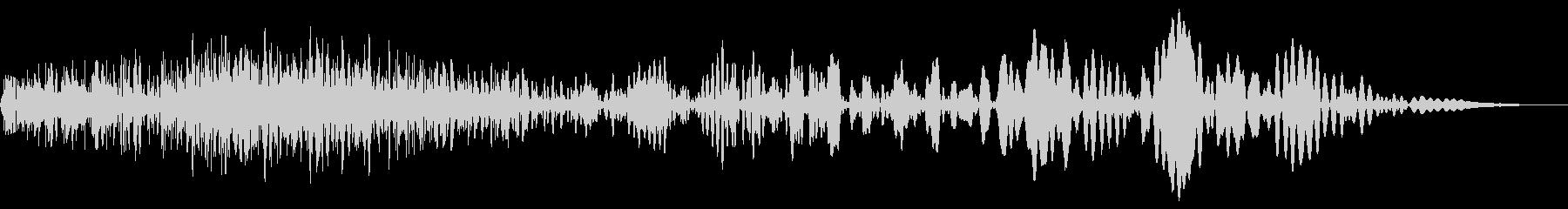メカ挙動音、衝撃音(ガチャ、ゴー)の未再生の波形